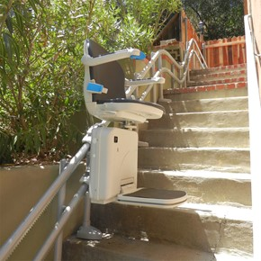 curved stairs outdoor stair lift